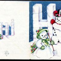 1952 December 15 : Christmas card to class