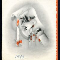 1945 December 29 : Christmas card to Helen Crawford